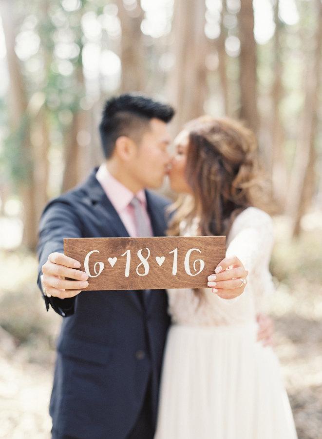 Save The Date Engagement Photoshoot Sign / Custom Wedding