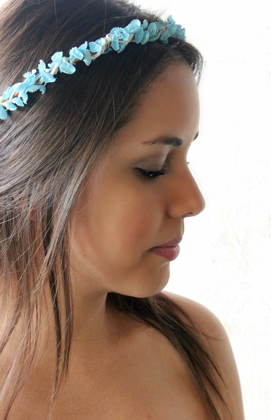 Lilly of the valley floral crown flower crown something blue lilly of the valley floral crown flower crown something blue flower hair crown wedding bohemian bridal headpiece izmirmasajfo