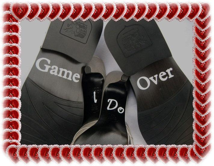 Hochzeit - Wedding Shoe Decals - Groom's 'Game Over'
