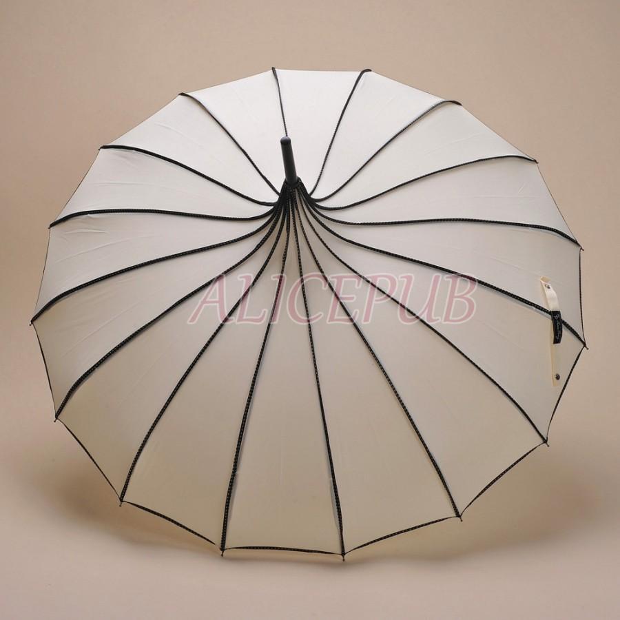 Hochzeit - Ivory Pagoda Umbrella, Wedding Umbrella Parasol, Ivory Rain Umbrella, Bridal Parasol, Waterproof Umbrella, Photo Props Umbrella BTS12A-6