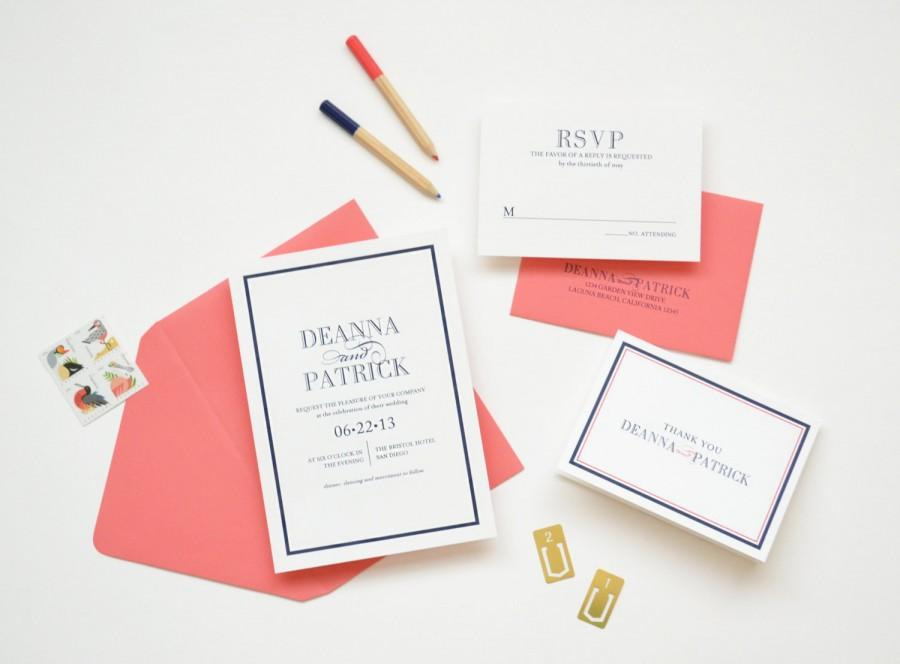 Wedding - Wedding Invitation Sample - The Deanna Suite