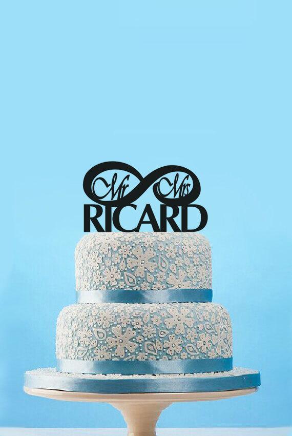 Mariage - Infinity Love  cake topper,custom Weeding cake topper,Mr Mrs cake topper,wedding decor,engagement cake topper,rustic Anniversary cake topper