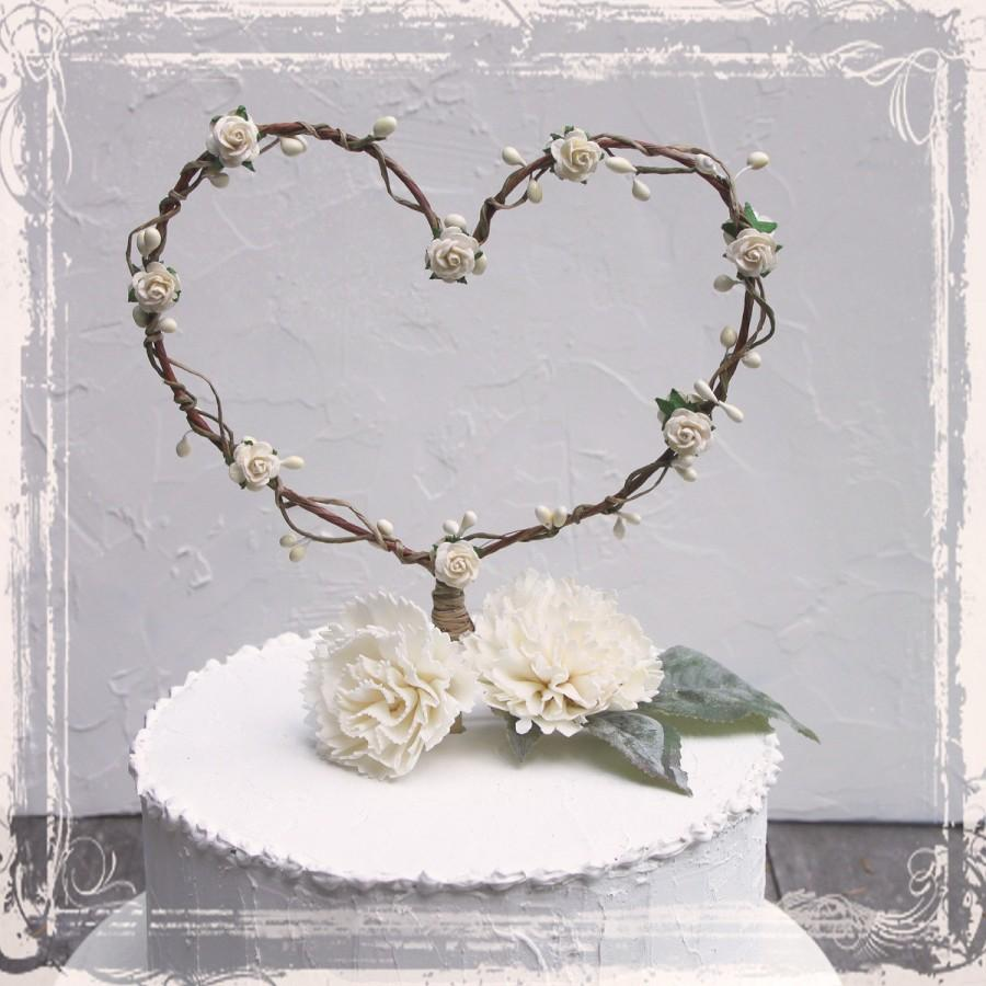 Mariage - Heart Shaped Cake Topper - Add To A Centerpiece Or Use As A Photo Prop - Wedding Decor - Custom Color - Fall Winter Weddings