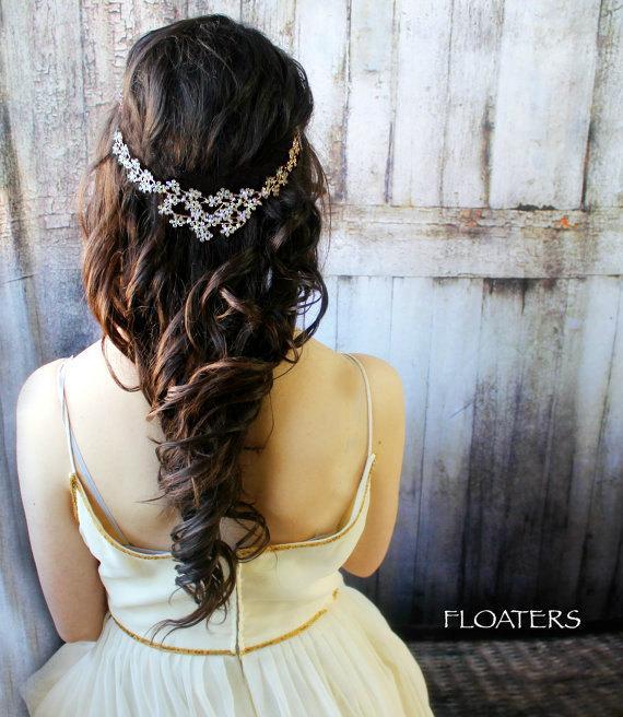 زفاف - Bridal Hair Jewelry, Head Piece, Wedding Head Chain, Bridal Hair Clip, Hair accessories