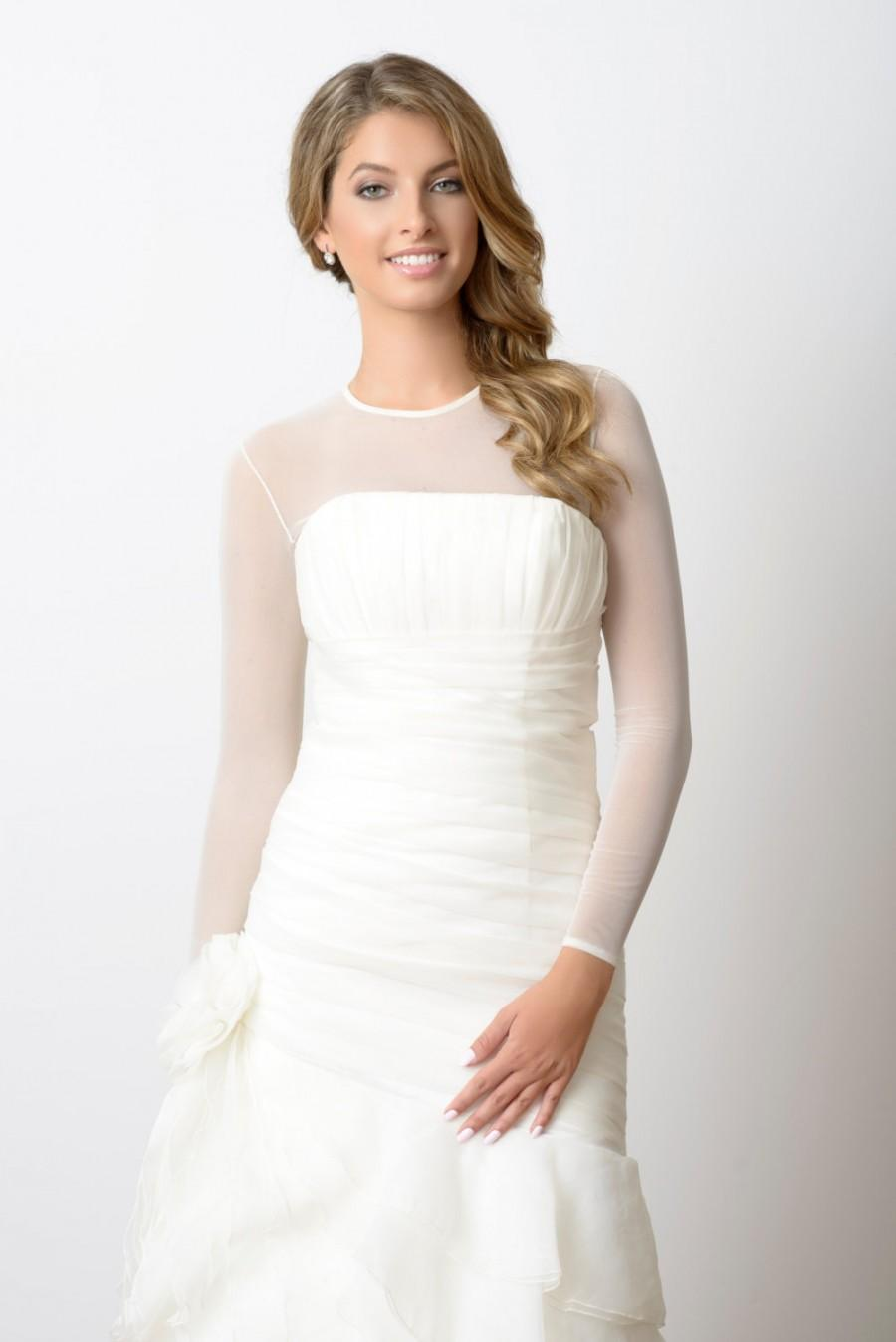 Mariage - Sheer Bodysuit - Ceremony Bridal cover up