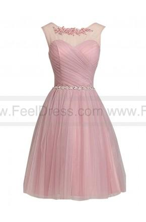Wedding - Chic Tulle Lace Appliques Beads Knee-length A-line Bridesmaid/Prom Dress