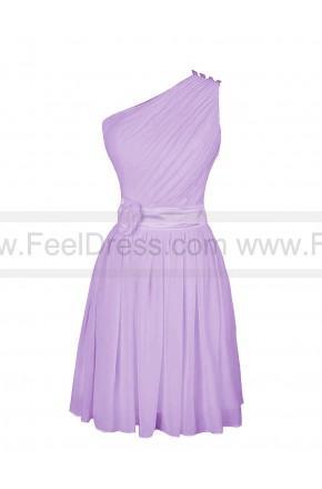 Wedding - Elegant Chiffon A-line One Shoulder Natural Waist Prom Dress