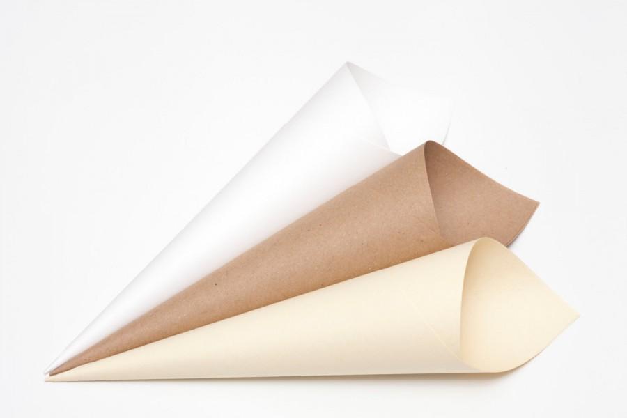 Mariage - Plain Confetti cones Pack of 5