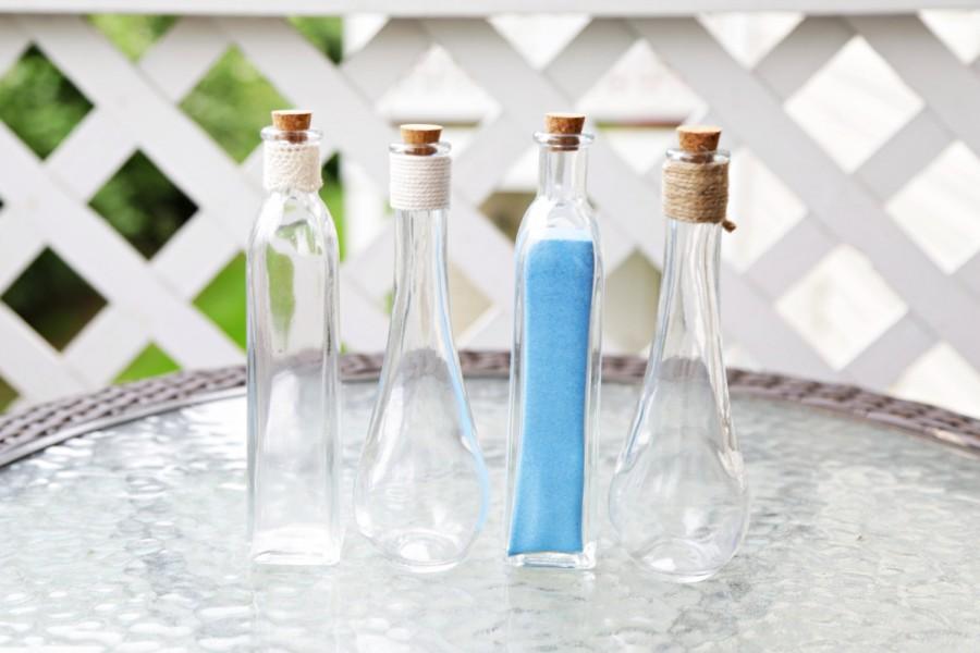 Extra Custom Pouring Glass Vase For Wedding Unity Sand Ceremony Set