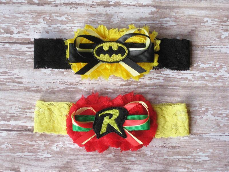 Mariage - Batman and Robin Garter Set