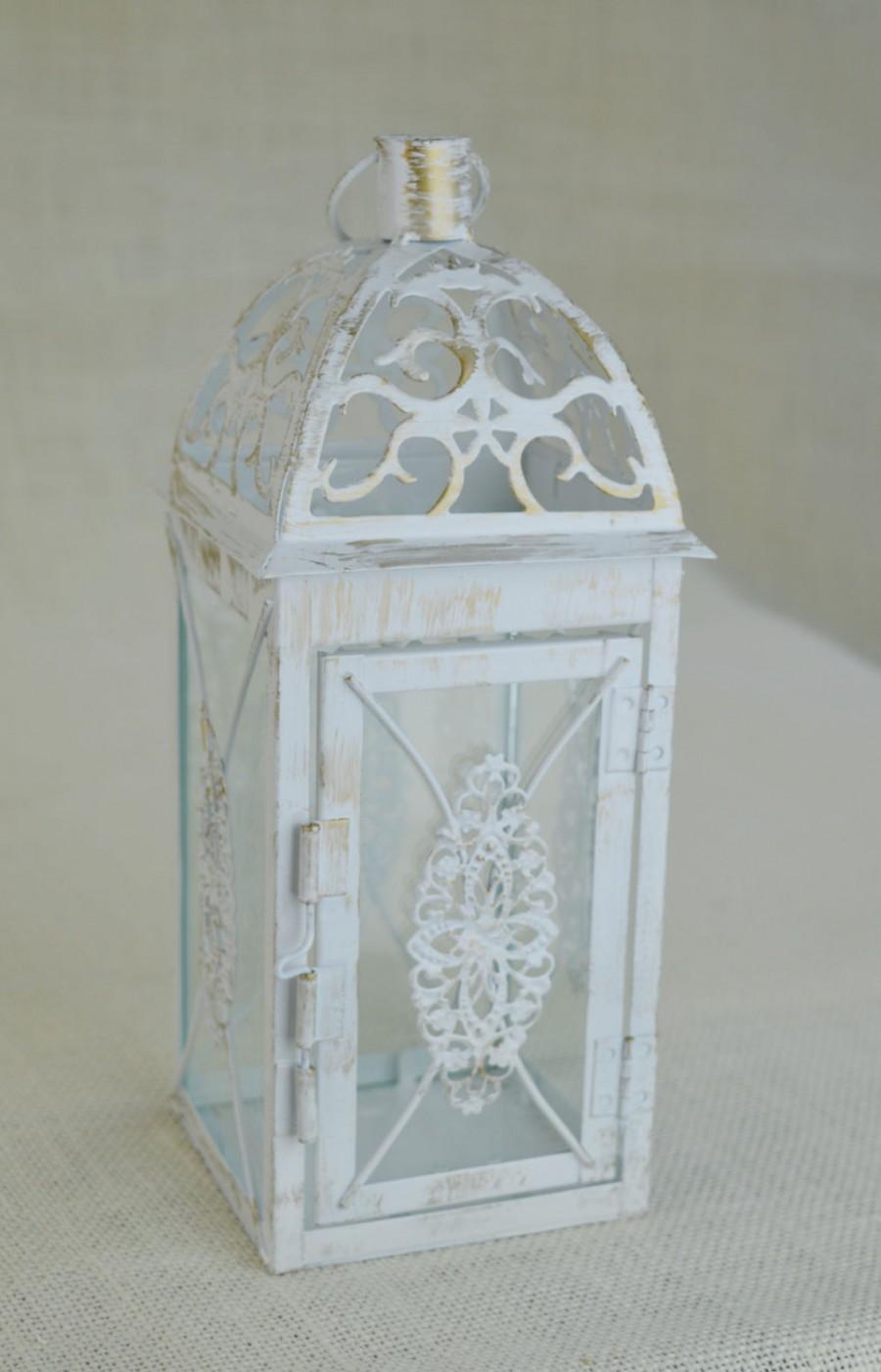 No L001 Wedding 10 1 2 Inch Lantern Centerpiece Vintage Antique