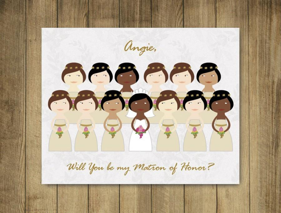 custom bridesmaid cards will you be my bridesmaid cards matron of