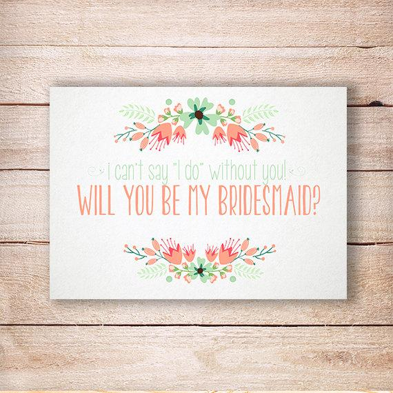 Will You Be My Bridesmaid, Bridesmaid Rustic Invitation