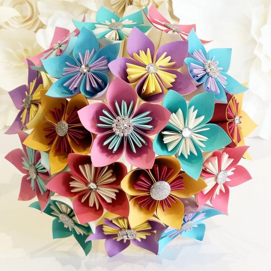 Paper Flowers Bouquet Origami Bridal Stationary Uk Carnival Festival