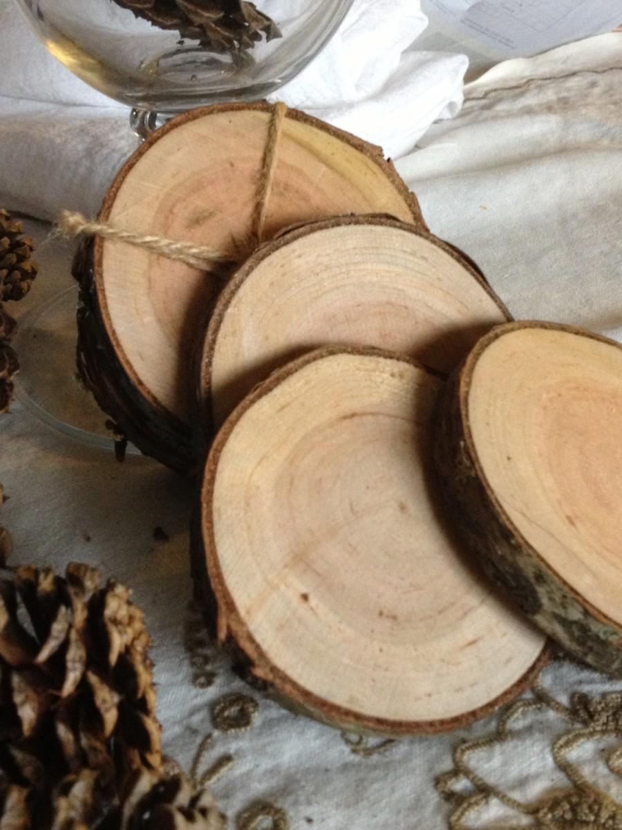 Hochzeit - Cherry Wood Coasters