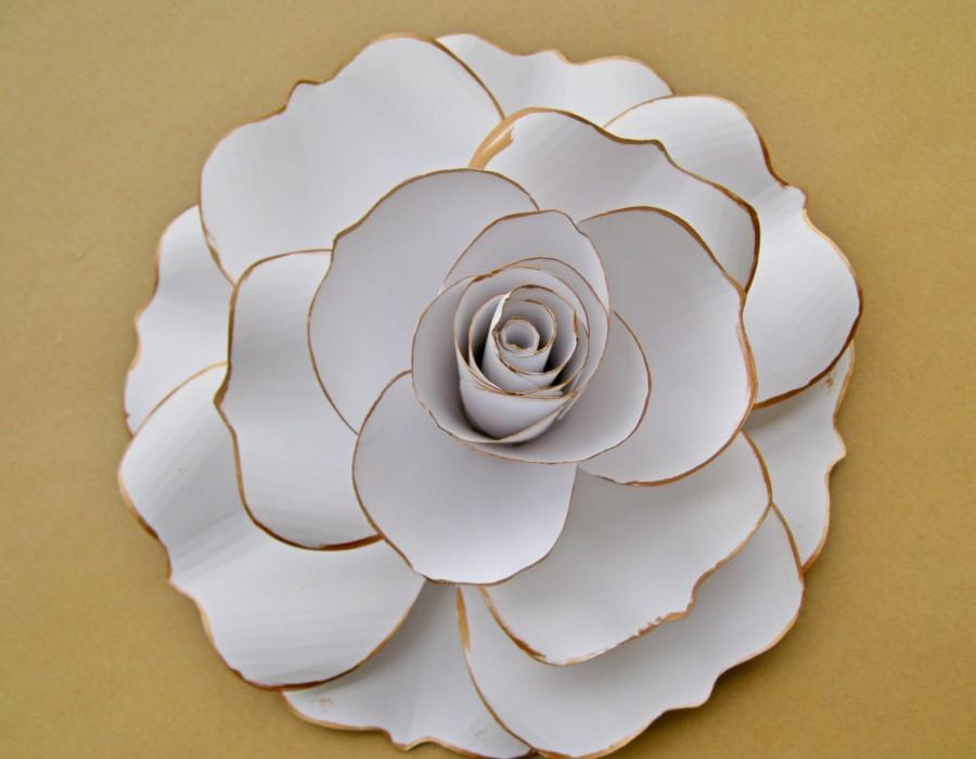 Giant white paper rose white flower blooms extra large paper rose giant white paper rose white flower blooms extra large paper rose spring summer wedding decor vintage paper flower big paper flower mightylinksfo