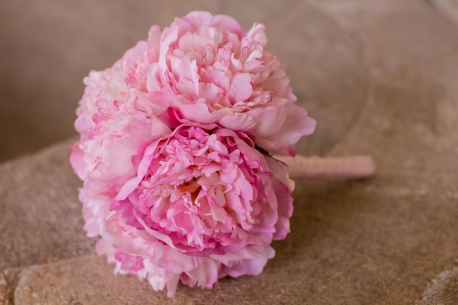 Wedding - peony bridal bouquet