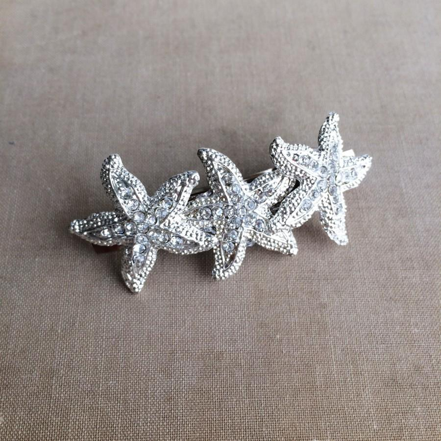 starfish hairclip beach wedding hair accessories