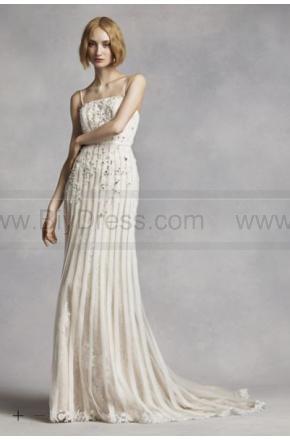 Свадьба - White by Vera Wang Spaghetti Strap Wedding Dress VW351269