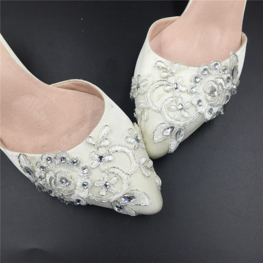 747308bd08a Ivory Women s Party shoes prom shoes evening shoes Size 7 8 9 10 11 12 Size  4~12.5 handmade bridal shoes