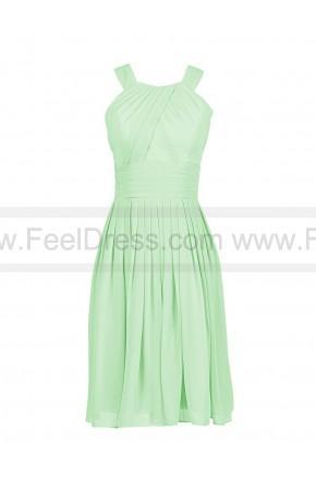 زفاف - Sleeveless Short Chiffon Halter Evening Party Dress Bridesmaid Dresses Open back