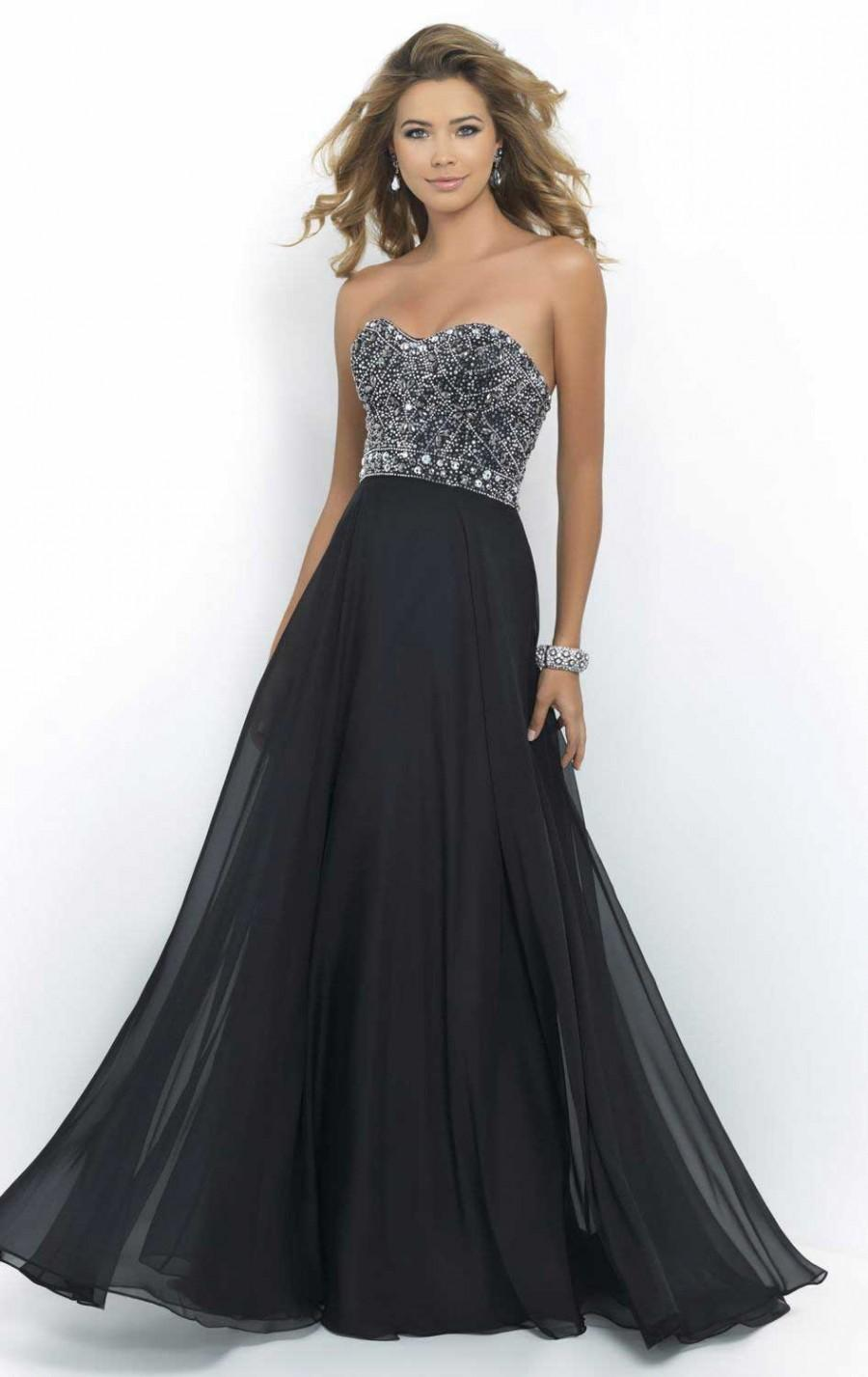 Hochzeit - Embellished A-Line Strapless Long Beaded Prom Dress