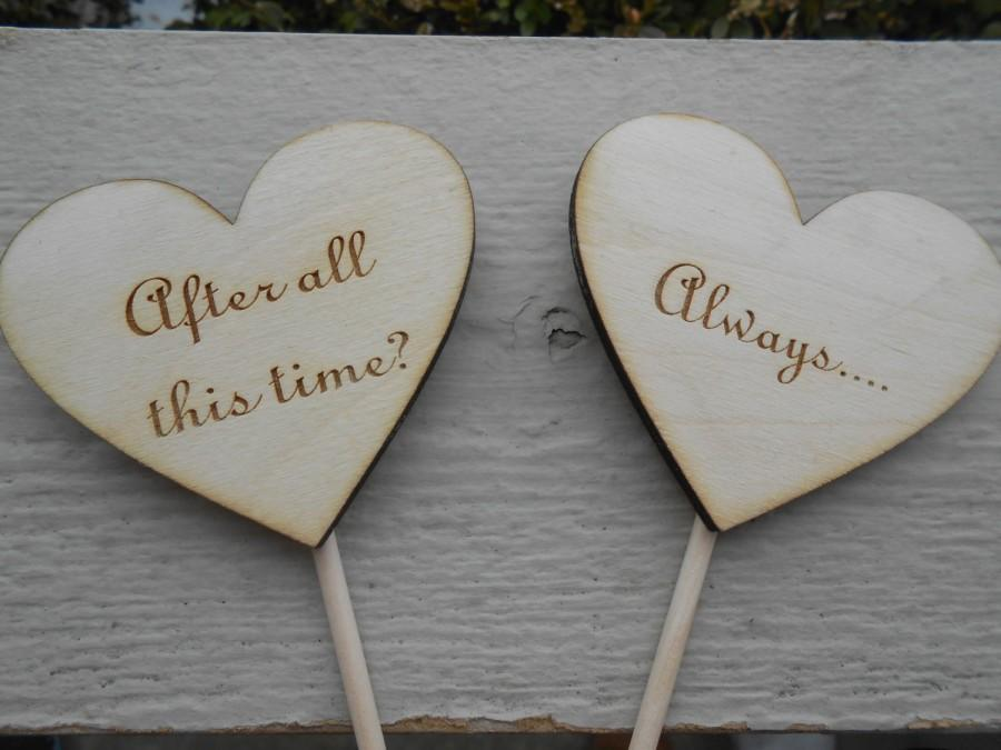 "Mariage - Harry Potter ""Always"" Cake Topper, Laser Cut. Snape, After All This Time. CUSTOM ORDERS WELCOME."