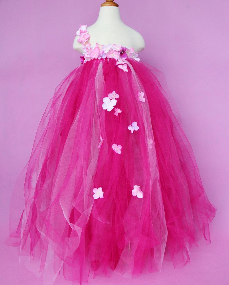 Hot Pink Toddler Flower Girl Dresses 83