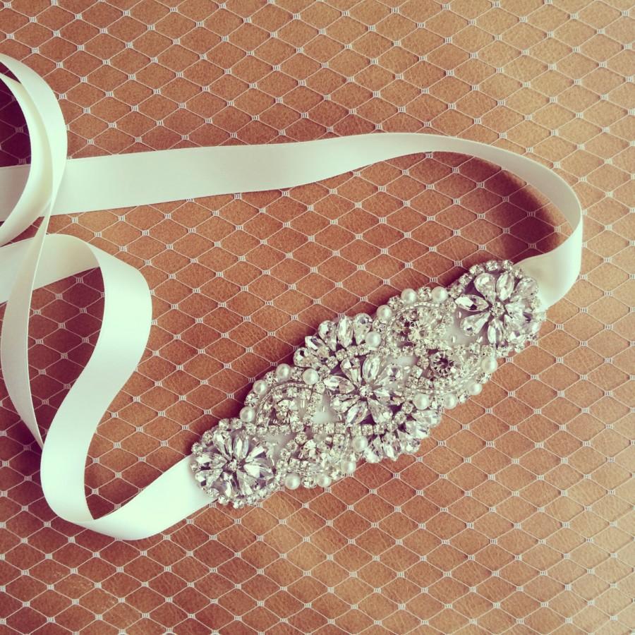 Wedding - Wedding Hairband with rhinestone and pearl embelishment