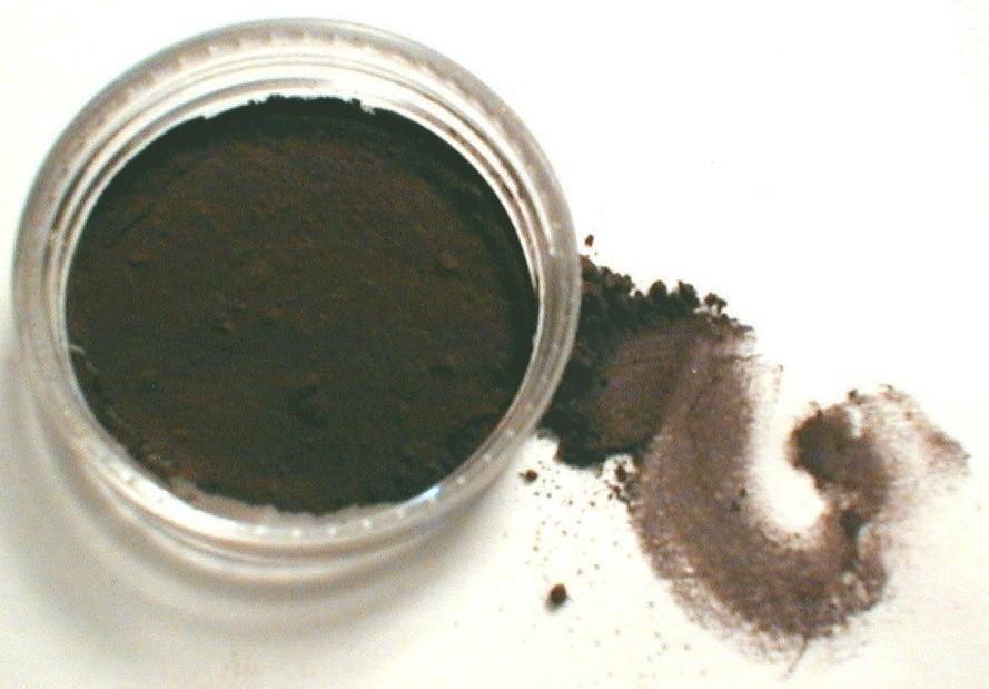 Свадьба - Vegan Eyeliner Eye Shadow Kettle  Darkest Brown Black Matte