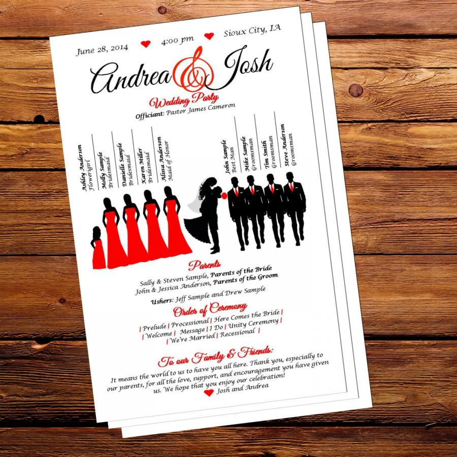 silhouette wedding program pdf download 2439222 weddbook