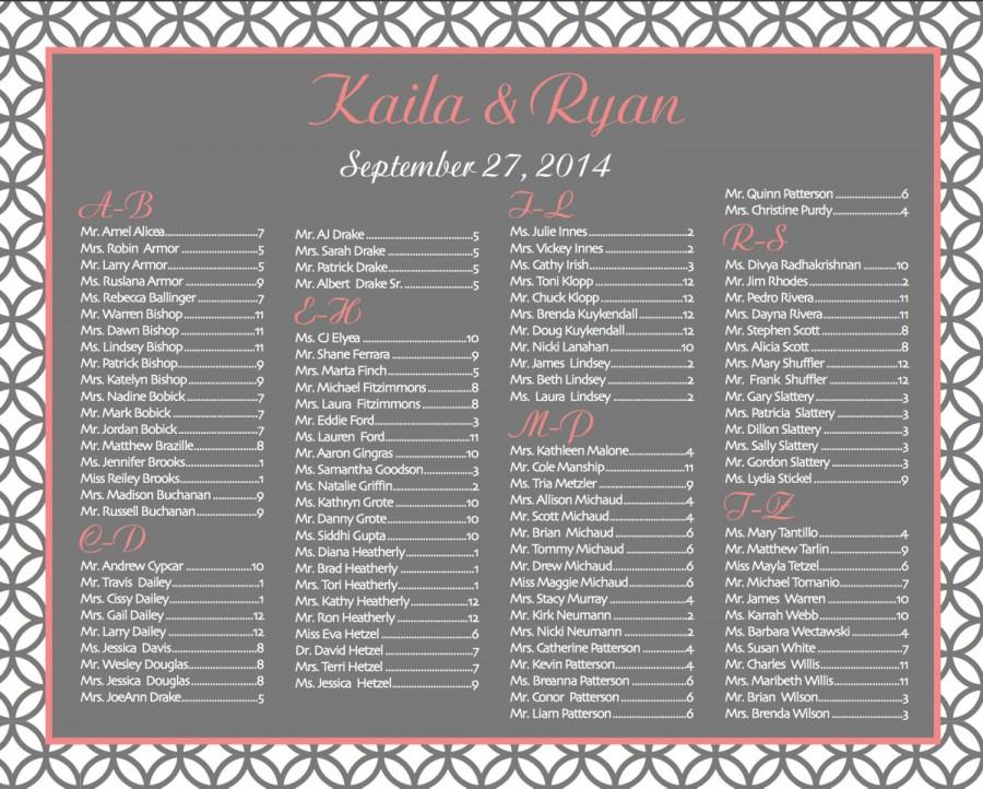 Mint Green Wedding Seating Chart Pdf Custom Seating Chart Wedding