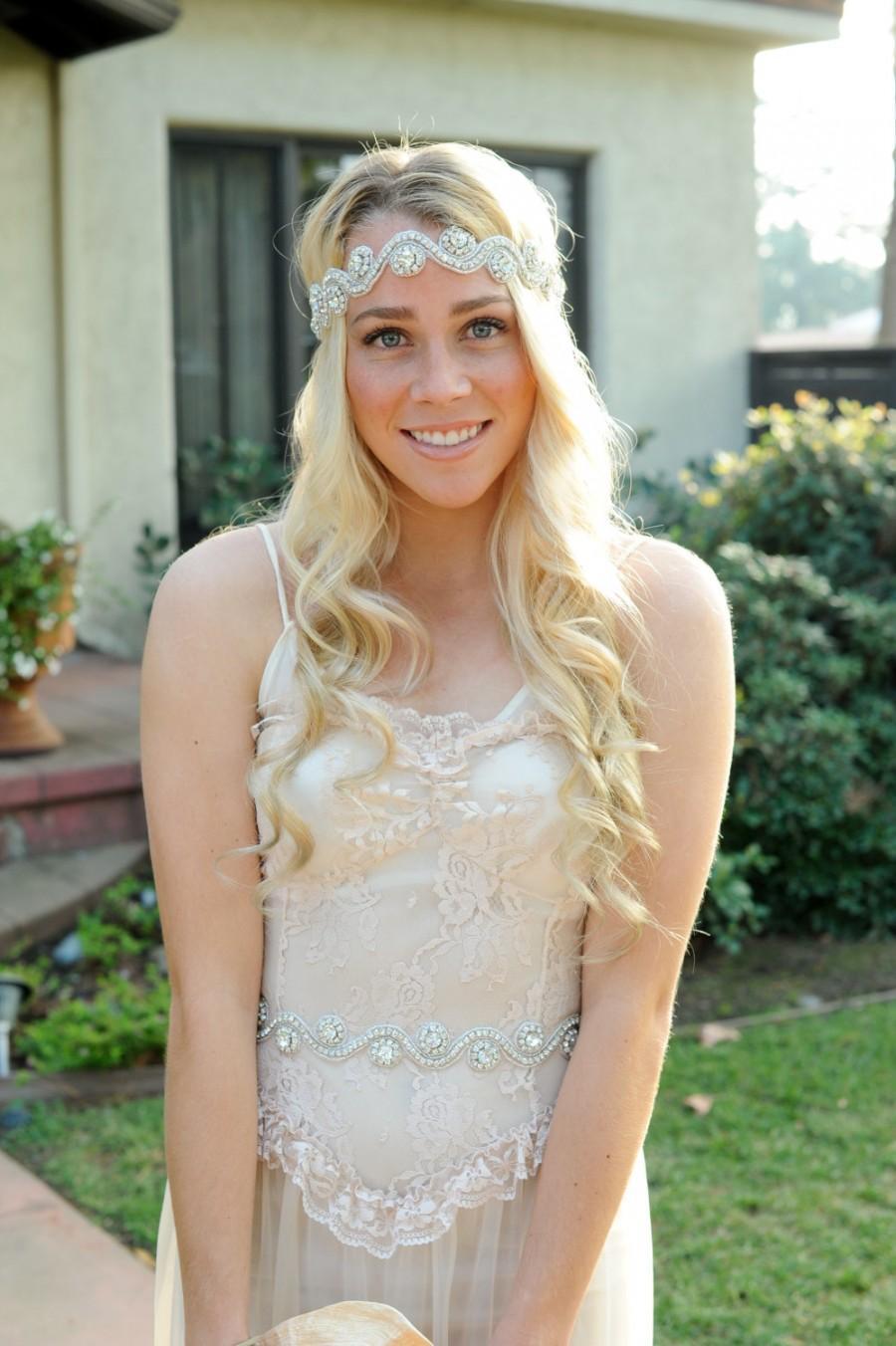 Mariage - Crystal Headband, Bridal Headband, Wedding Hair Piece