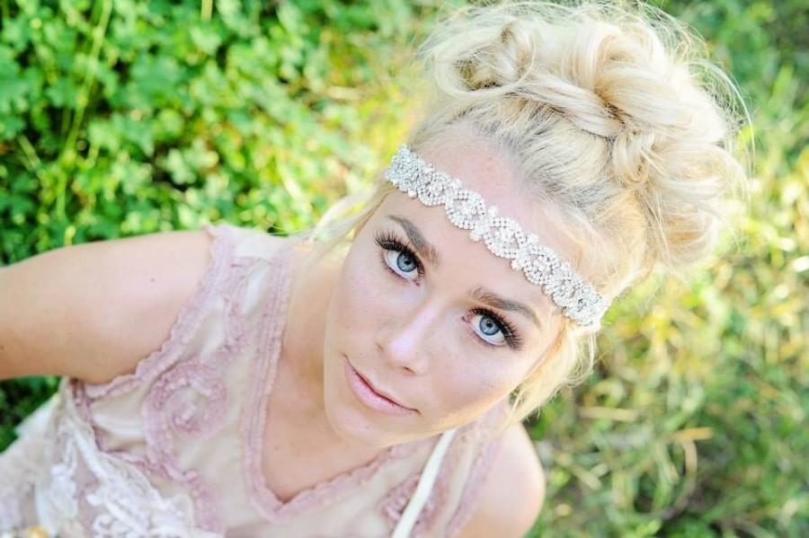 Свадьба - Crystal Headband ,Bridal Headband, Vintage Headband, wedding hair piece, crystal headband, headpiece , headband, bridal headband