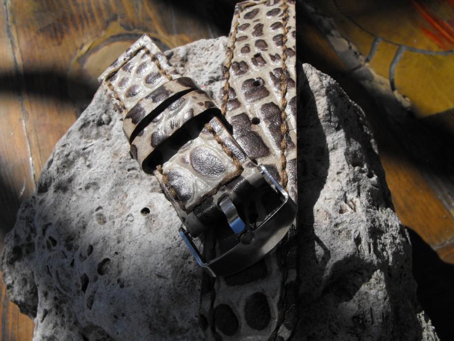 Mariage - Crocodile watch strap, Alligator watch strap, Gator watch strap, leather croc strap, men's croc strap, Embossed watch band
