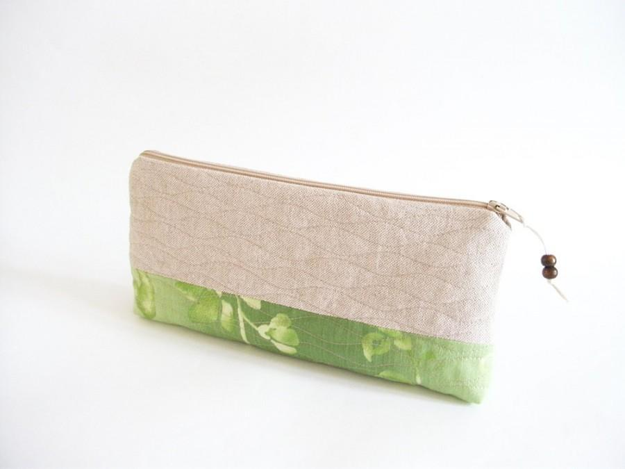 Mariage - Green Wedding Clutches, Garden Wedding Bags, Bridesmaids Gifts, Set of 5 Purses, Minimalist Rustic Bags