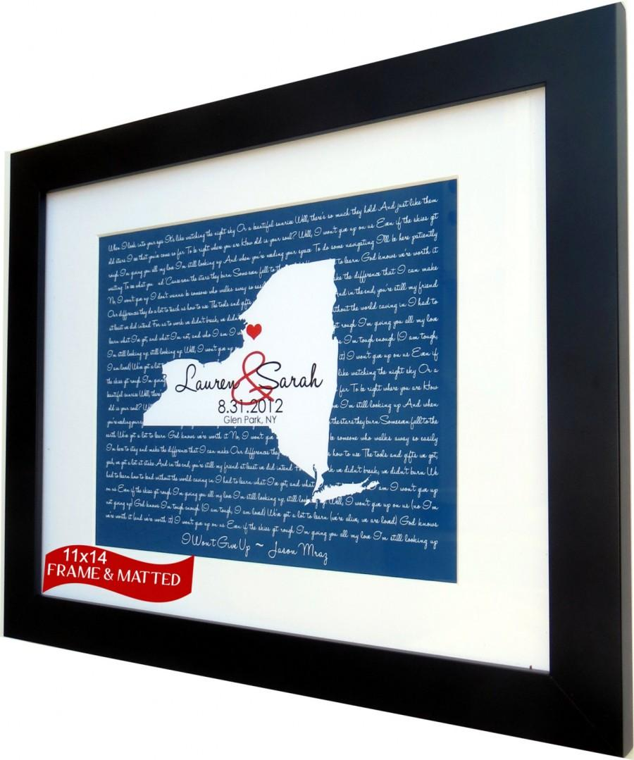 Framed Song Lyrics: ANY Wedding Song Lyrics First Dance Map Wall Art ...