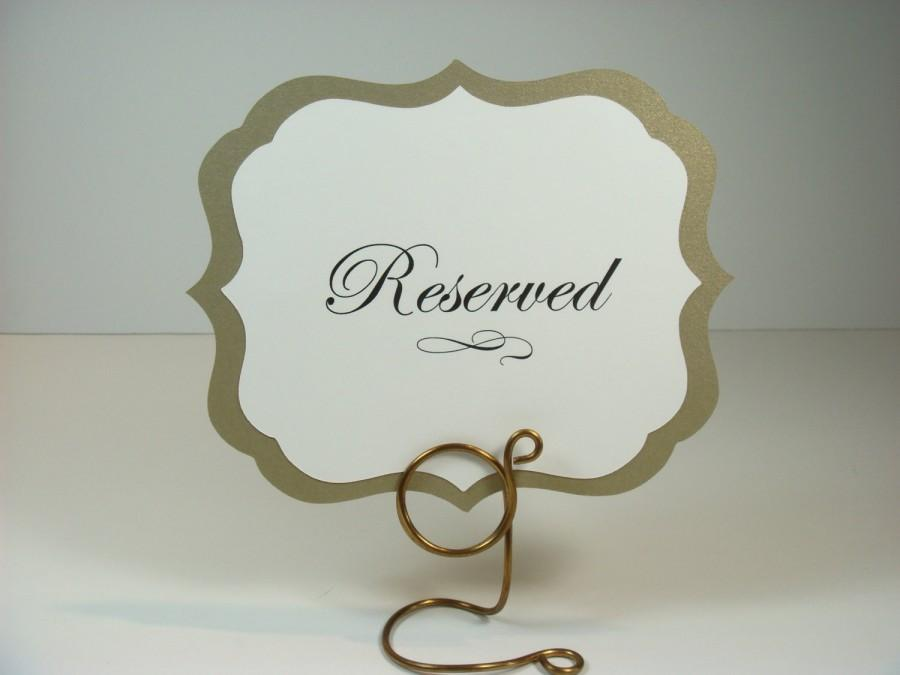 Hochzeit - Wedding Table Signs Elegant Vintage Label Design Prepared with your Custom Wording All of my Colors Available
