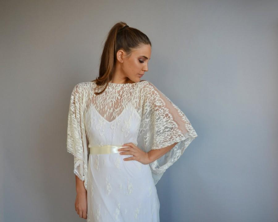 Lace Wedding Dress, Kimono Sleeves,all Lace Wedding Dress ...