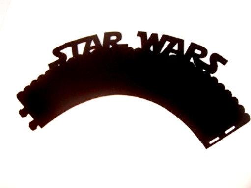 زفاف - Star Wars Cupcake Wrappers 6 Star Wars Inspired Wraps Choose your Color Star Wars Party Decorations Star Wars Birthday Candy Buffet Table