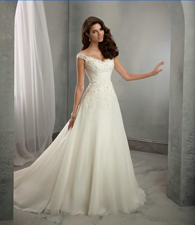 New off the shoulder wedding dresses 2016 ivory sweetheart for Shop online wedding dresses