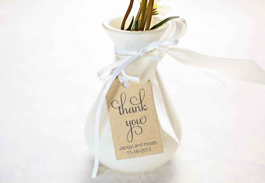 Thank You Wedding Favor Tags Wedding Shower Gift Tag
