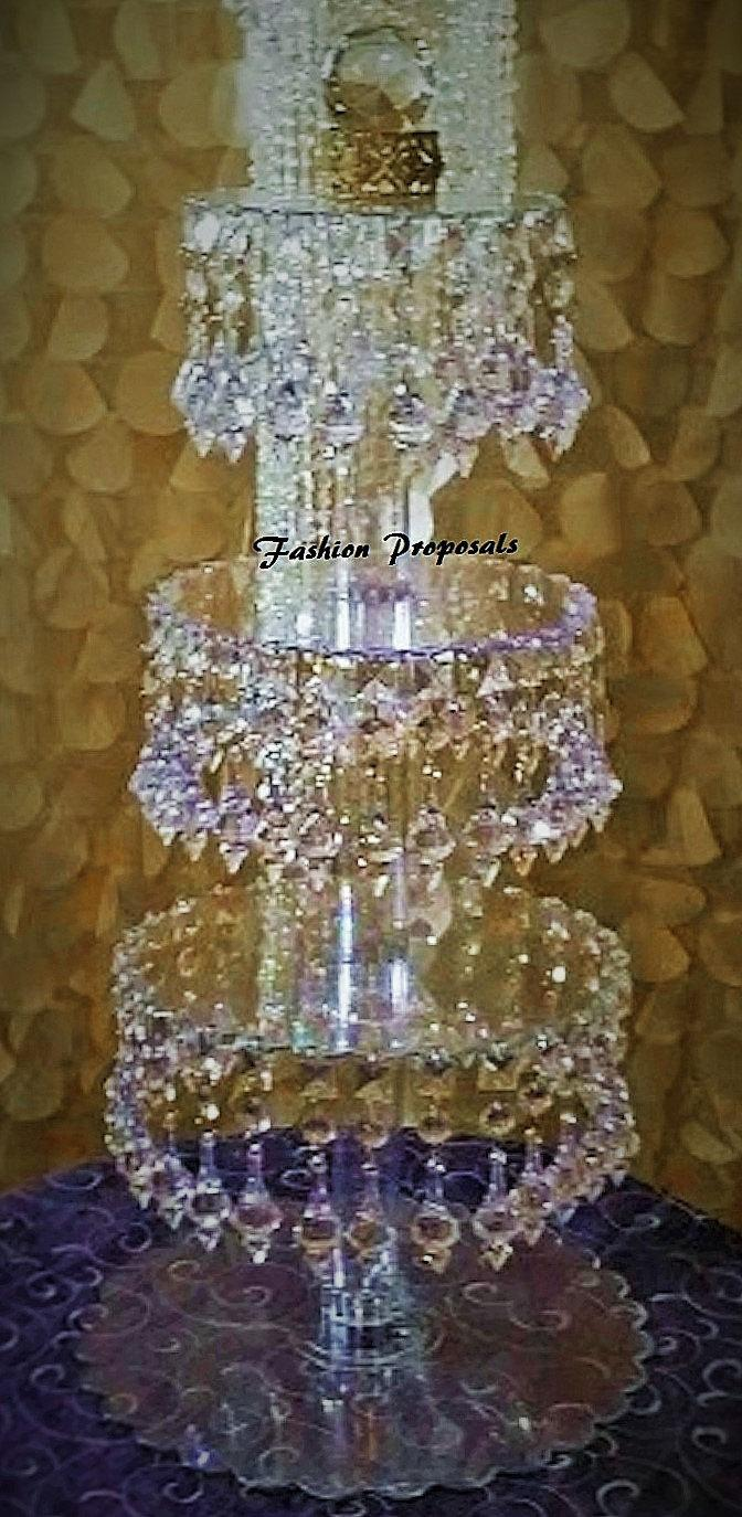 Sale Bling Cupcake Tower 4 Tiers Cupcake Stand Crystal