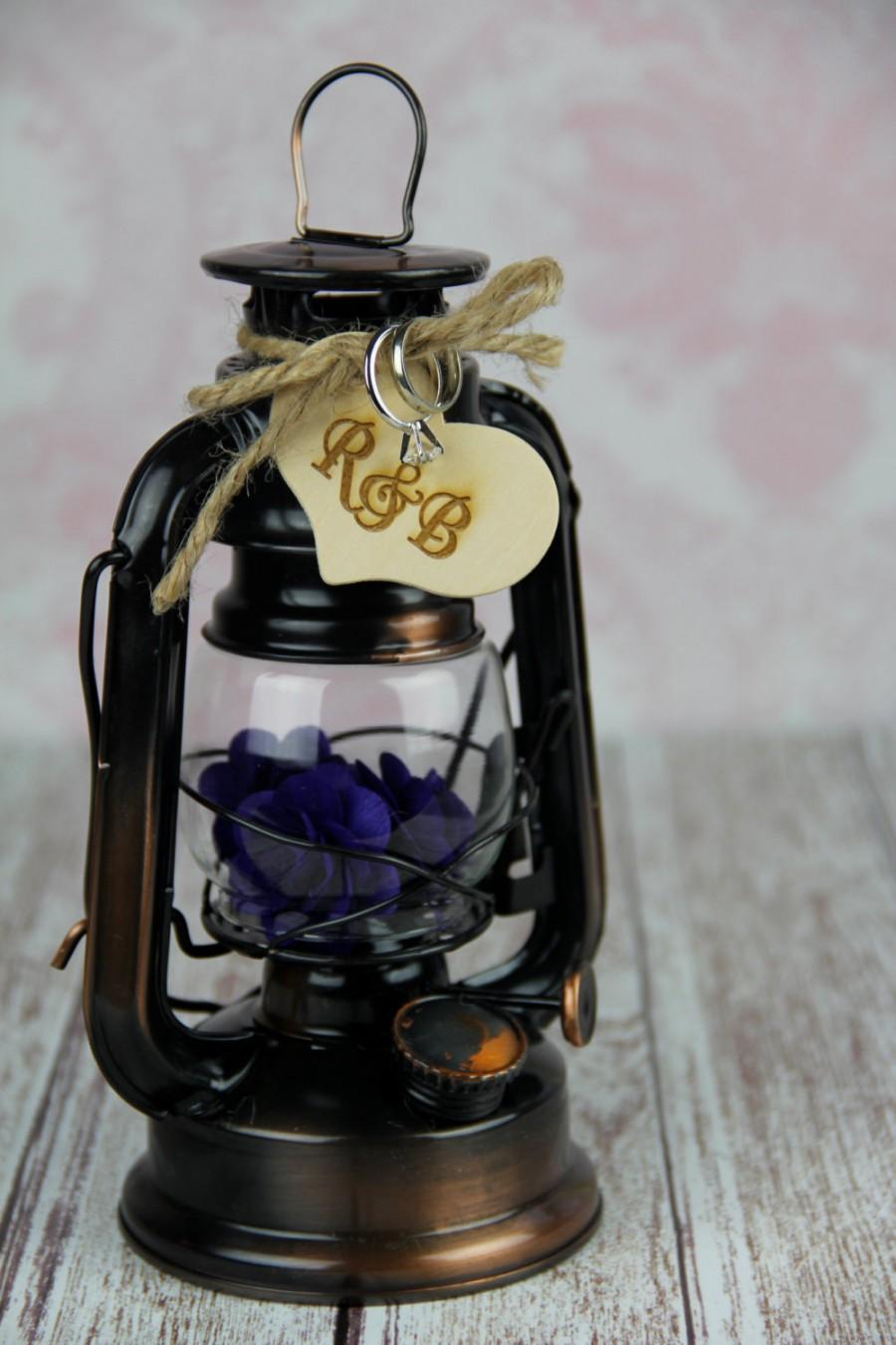 زفاف - Lantern Ring Bearer Pillow, Rustic Lantern, Rustic Lantern Ring Bearer Pillow