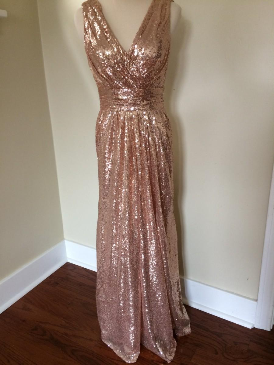 Jessica 39 s bridesmaids rose gold pink champagne luxury for Pink champagne wedding dress