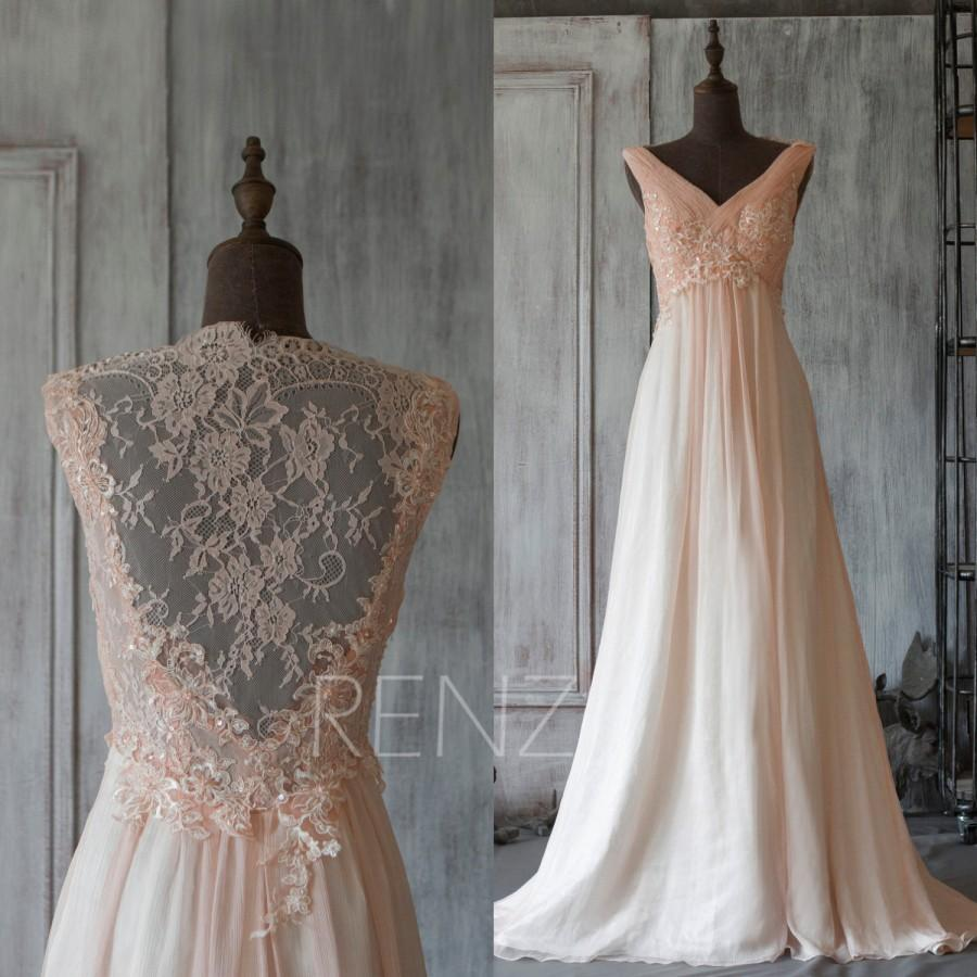 2015 peach perspective bridesmaid dress long lace prom