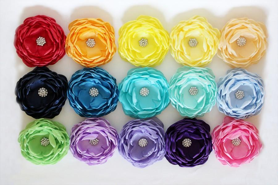 Hochzeit - Fabric Flower clips