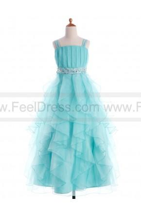 Wedding - A-line Floor-length 100% Organza Flower Girl's Asymmetric Ruffles