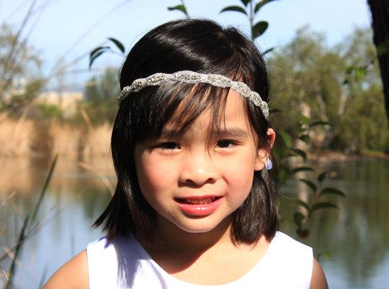 f8db3ab1bc CHRISTINE - Flower Girl Crystals Rhinestones Headband