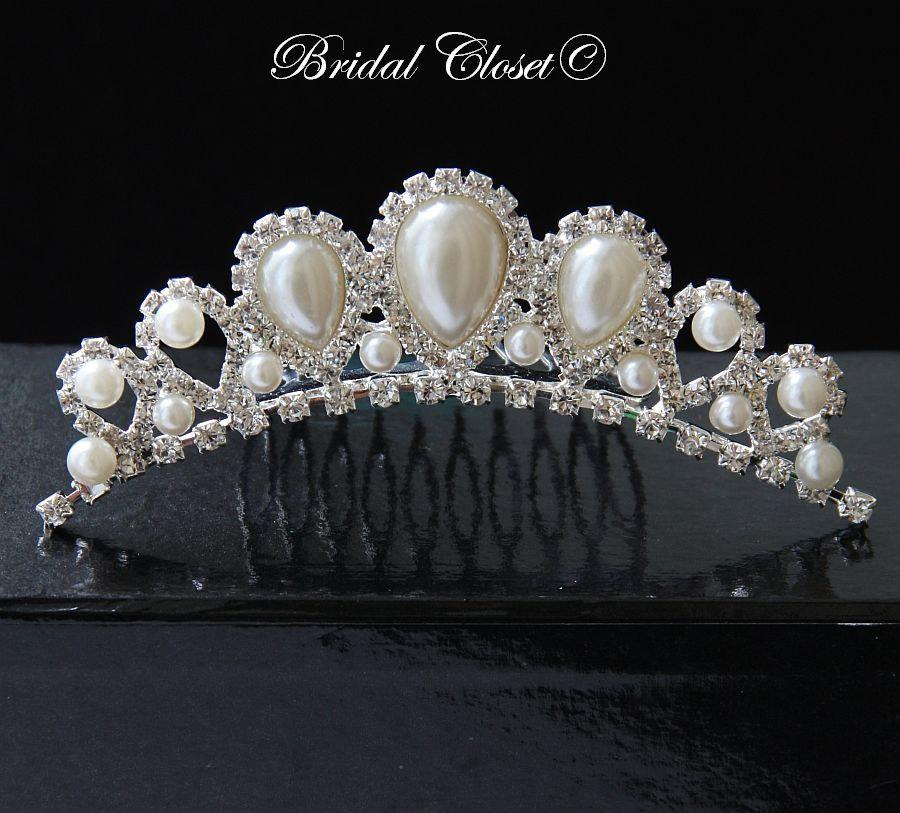 Mariage - Bridal Tiara Crown, Bridal Crown, Rhinestone Tiara, Crystal Tiara Comb, Bridal Hair Accessories, Bridal Jewelry